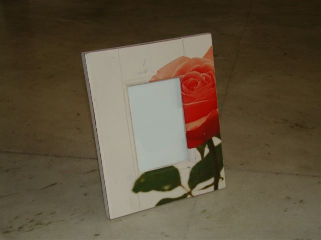 Rose Print Picture Frame