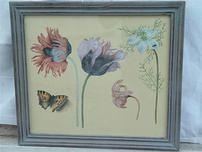 Flowers and Butterfly Painting